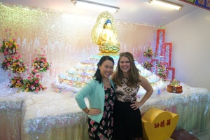 Julianna and I with our FAV buddha