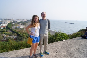 Chris and I on top of the old fort. This fort was built in 1876. The fort was crucial in a big battle against the Japanese.