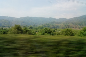 Blurry, and obviously doesn't do it justice, but gorgeous Thai countryside.