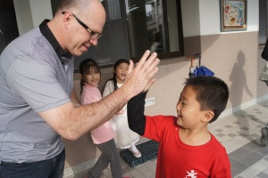 "Students got ""high fives!"" for successfully accomplishing the task."