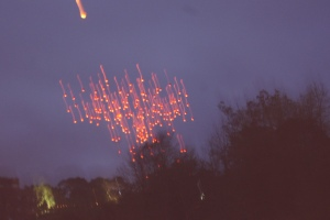 This is what 1000 lanterns being released at one time looks like when you don't know how to use your camera at night time. #whoops