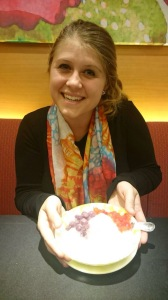 the yummy dessert!