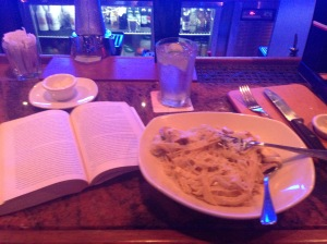 I think the bartender was a little perplexed by the fact that I was reading at the bar. #sorrynotsorry ?