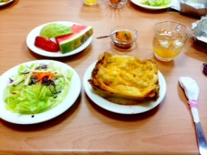 I didn't get to go to Feng Jia's graduation, but I go to go to their banquet after! The 6th graders acted as waiters and served us which was super sweet. We had lasagna and salad. I was in heaven.