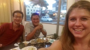 A few nights ago I had dinner with my co-teacher Brandon and our coworker Tim. We ate at a Japanese restaurant, and it was delicious.