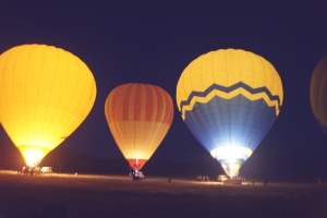 Watching the balloons get ready to take off!