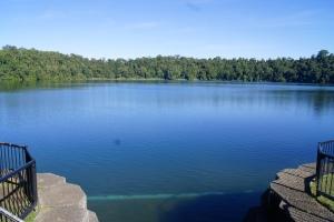The volcanic lake!