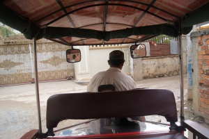 The view from the back of our tuk tuk.
