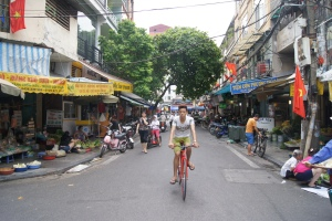 The streets in Vietnam are crazy, even to someone who is living in Asia. Always have to have your wits about you!