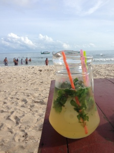 We got some Mojitos on the beach!